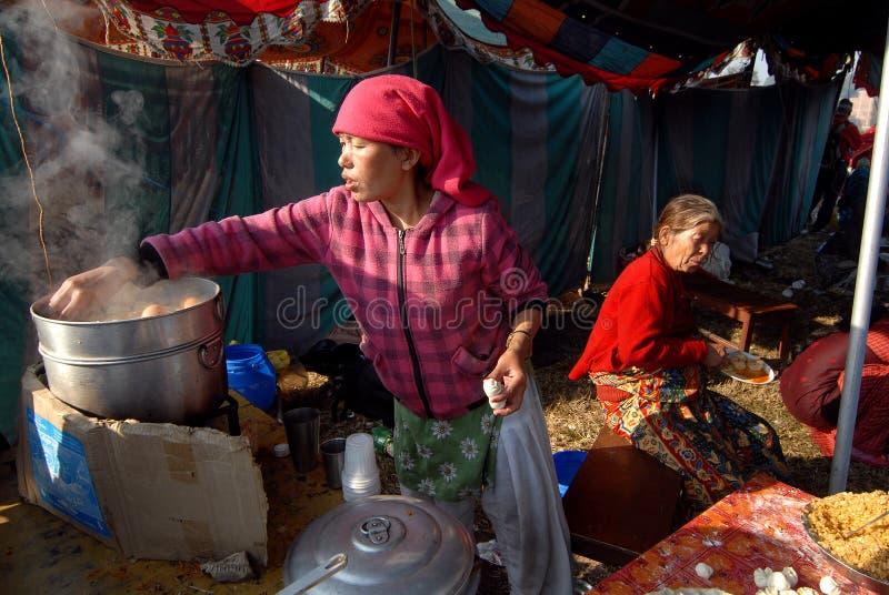 Nourriture de rue au Népal photo stock