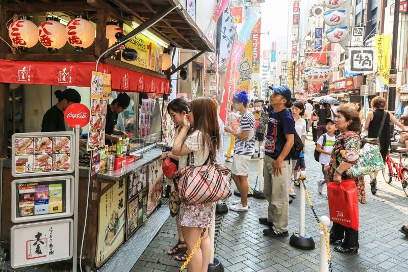 Nourriture de rue d'Osaka images libres de droits