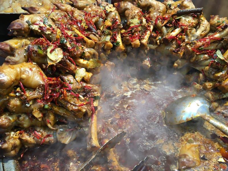 Nourriture de rue, marché de nuit de Xian Hui Minority images libres de droits