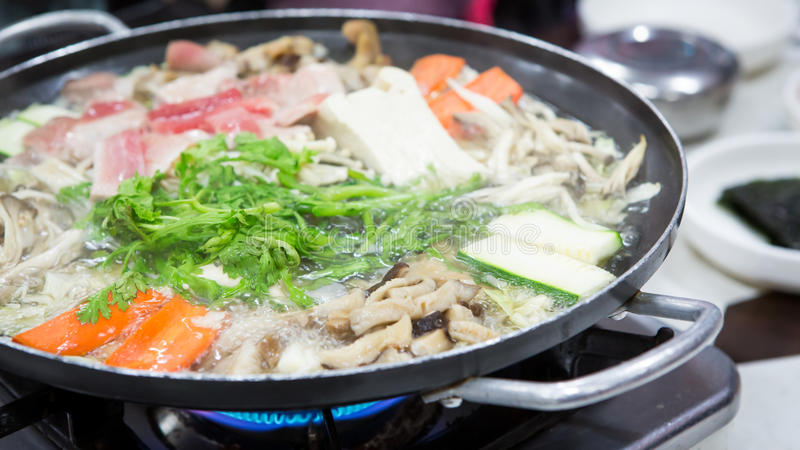 Nourriture de Sukiyaki image stock