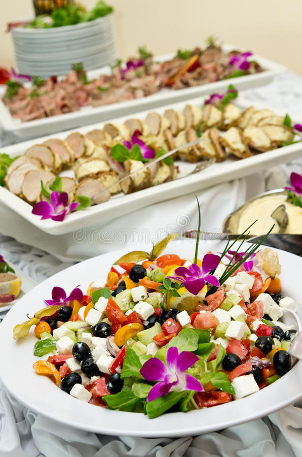 Nourriture de Tableau de buffet photos stock