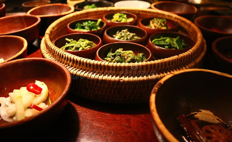 Nourriture de temple à Séoul, Corée images stock