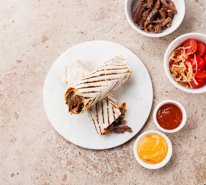 Nourriture de turc de Doner Kebab images libres de droits