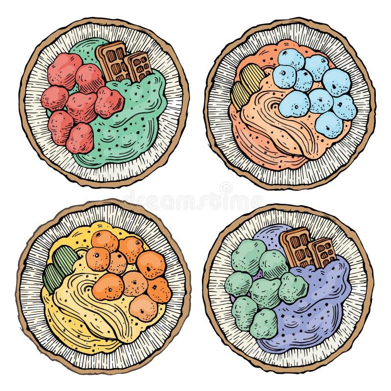 Nourriture douce de dessert de noix de coco image libre de droits