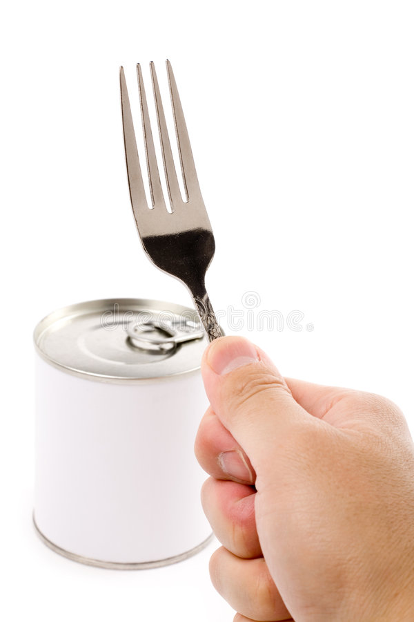 Nourriture en boîte photo stock