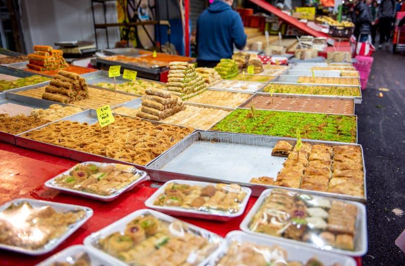 Nourriture en Carmel Market, Tel Aviv, Isreal photographie stock libre de droits