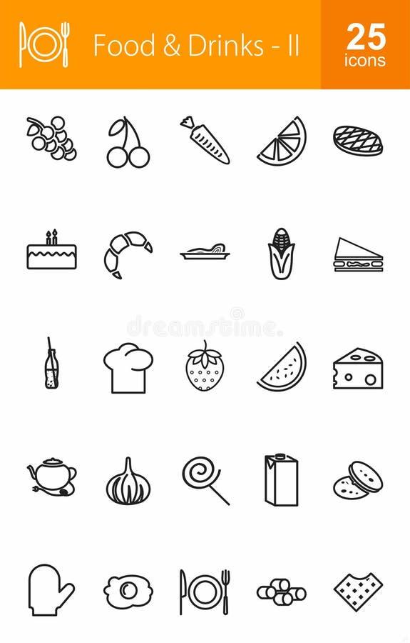 Nourriture et boissons illustration de vecteur
