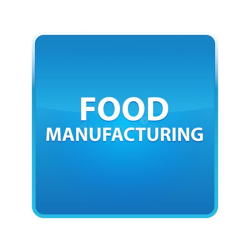 Nourriture fabriquant le bouton carré bleu brillant illustration de vecteur