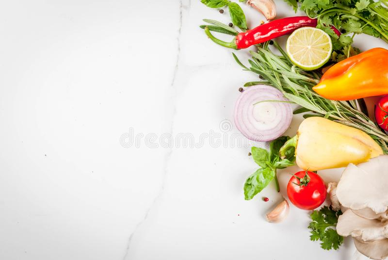 Nourriture faisant cuire le fond images stock