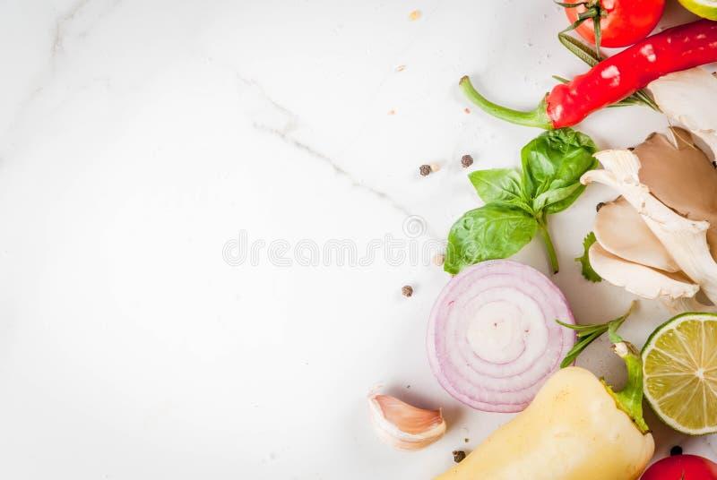 Nourriture faisant cuire le fond photographie stock libre de droits