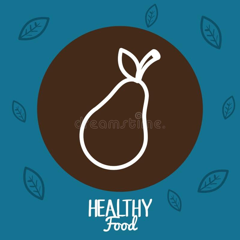 Nourriture fraîche de végétarien de poire illustration libre de droits