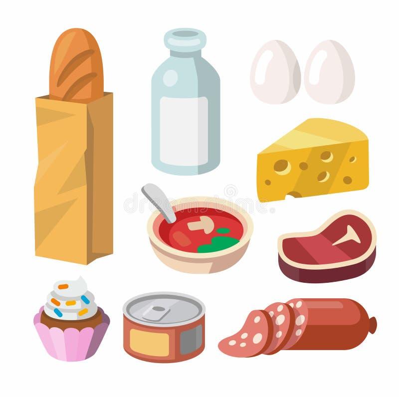 Nourriture fraîche et boisson illustration de vecteur
