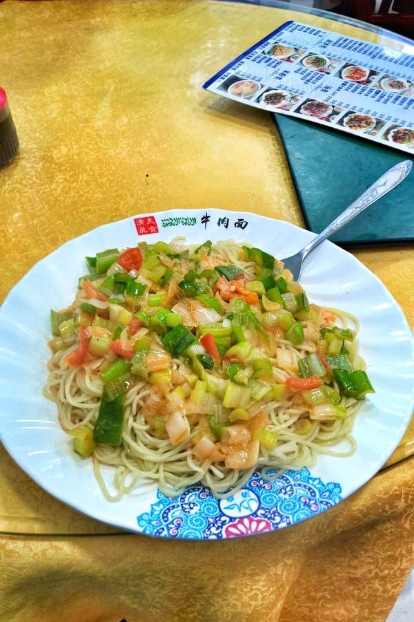 Nourriture halal dans le restaurant chinois image stock