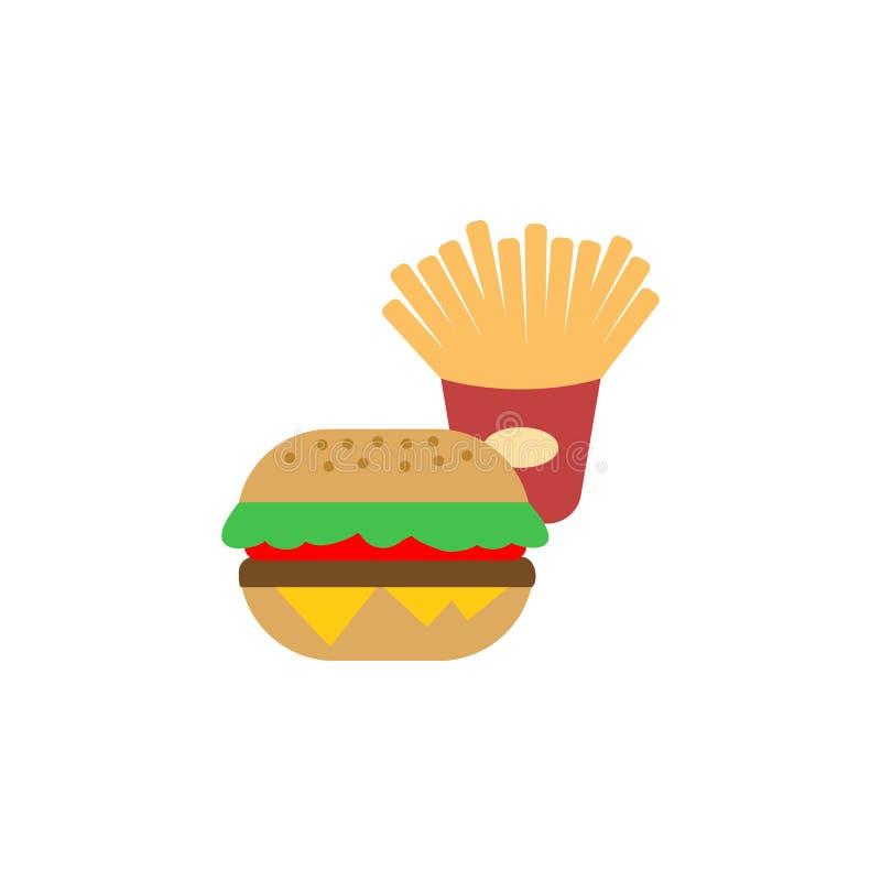 Nourriture, icône d'hamburger Élément d'icône internationale de nourriture de couleur Ic?ne de la meilleure qualit? de conception illustration stock