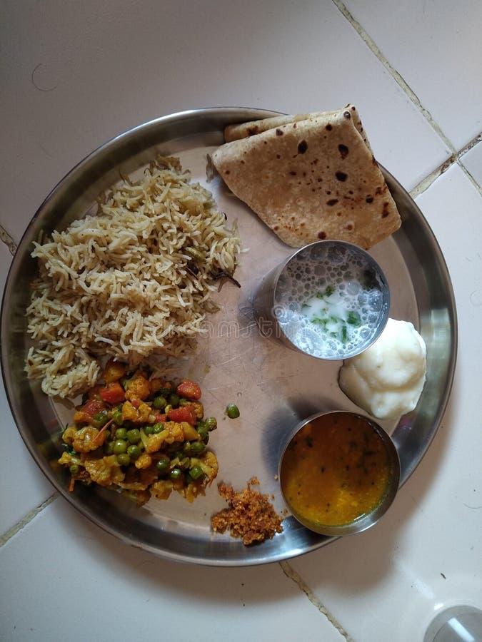 Nourriture indienne C'est fonction ou nourriture dalishious de partie photographie stock libre de droits