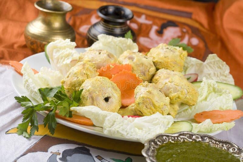 Nourriture indienne, champignon de couche Tikka de Malai photos stock