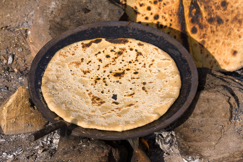 Nourriture indienne - chapatti photographie stock