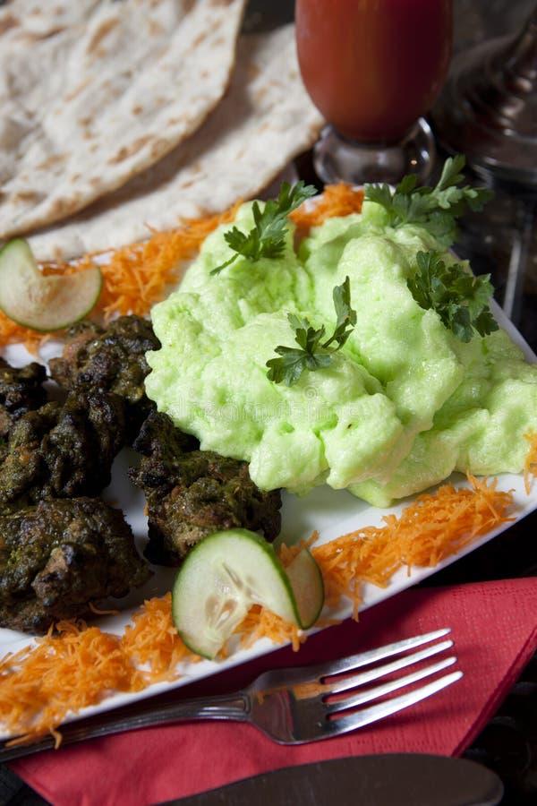 Nourriture indienne de repas de cari images stock