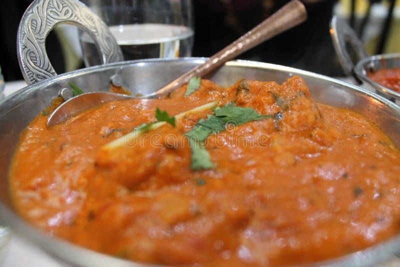 Nourriture indienne typique de masala de tikka de poulet images stock