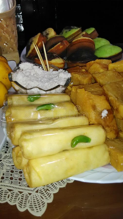 Nourriture indonésienne traditionnelle soloe de Sosis photographie stock