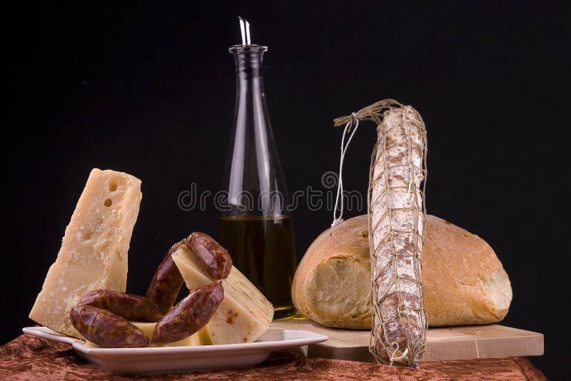 Nourriture italienne d'isolement photos stock