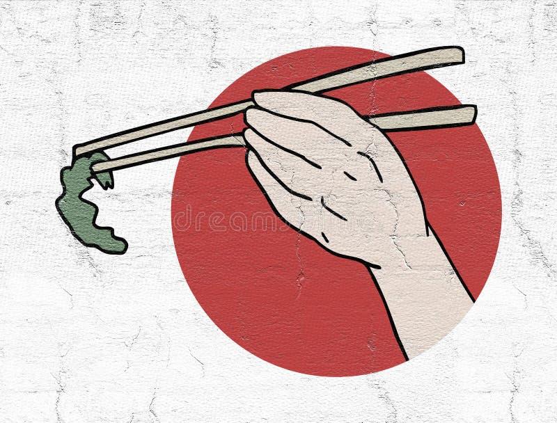 Nourriture japonaise illustration libre de droits