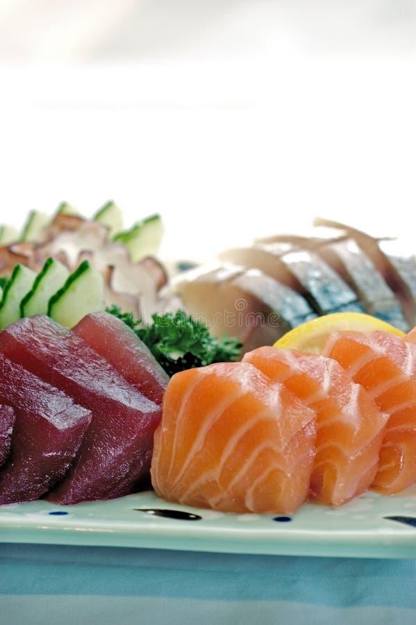 Nourriture japonaise, détail PS-42279 de plaque de sashimi photo libre de droits
