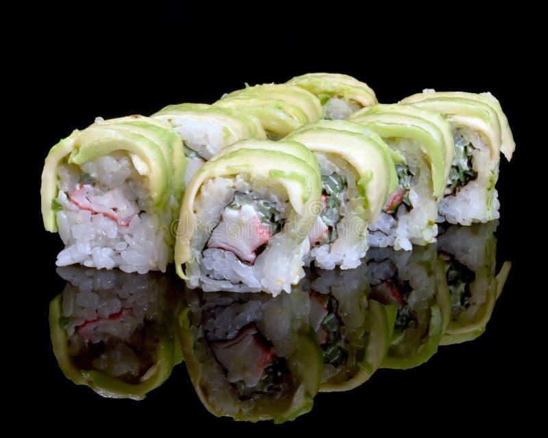 Nourriture japonaise traditionnelle de sushi photographie stock