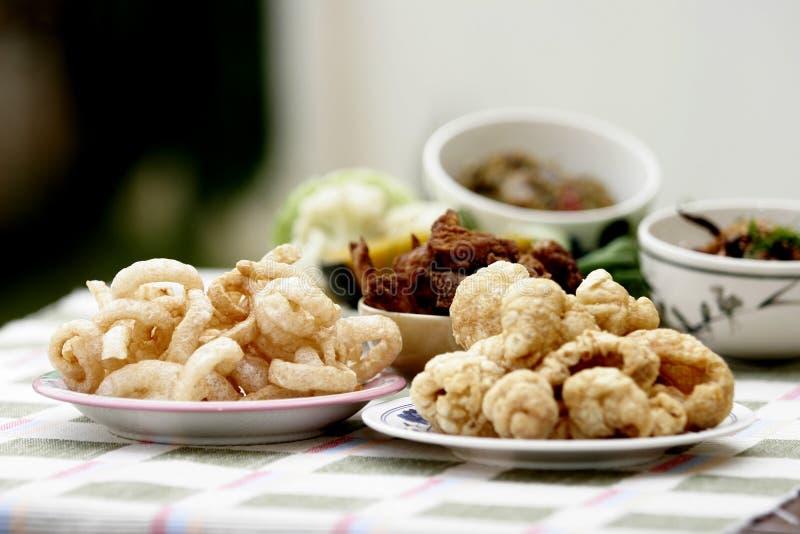 Nourriture locale de porc collant photographie stock libre de droits