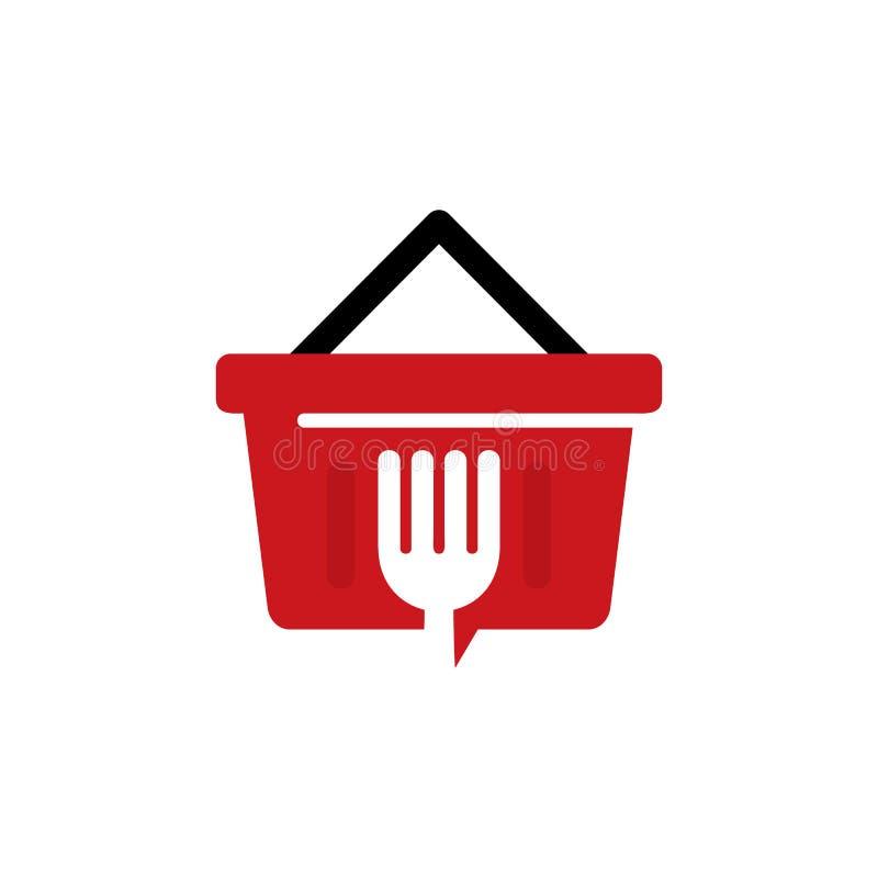 Nourriture Logo Icon Design de boutique illustration de vecteur
