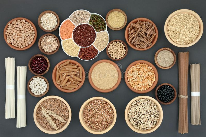 Nourriture macrobiotique sèche saine photo stock