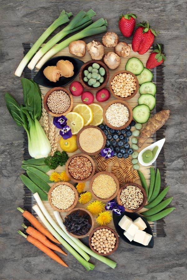Nourriture macrobiotique saine photos stock