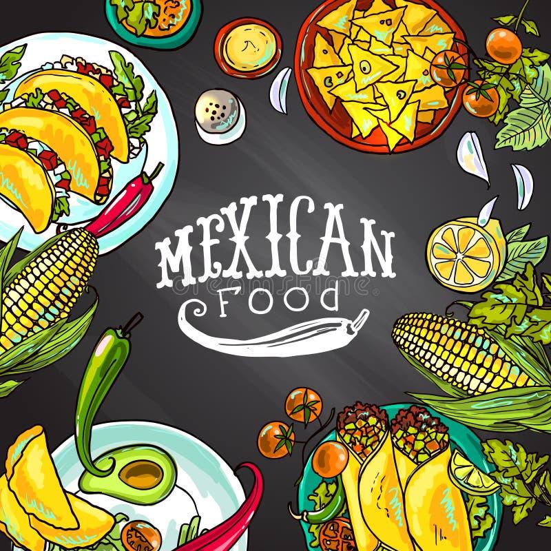 Nourriture mexicaine illustration stock