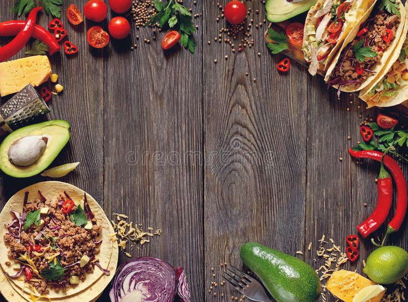 Nourriture mexicaine de rue photographie stock libre de droits