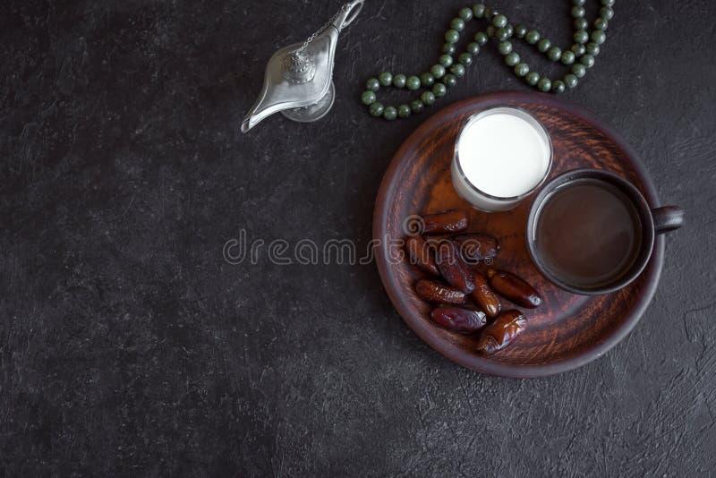 Nourriture musulmane d'Iftar images libres de droits