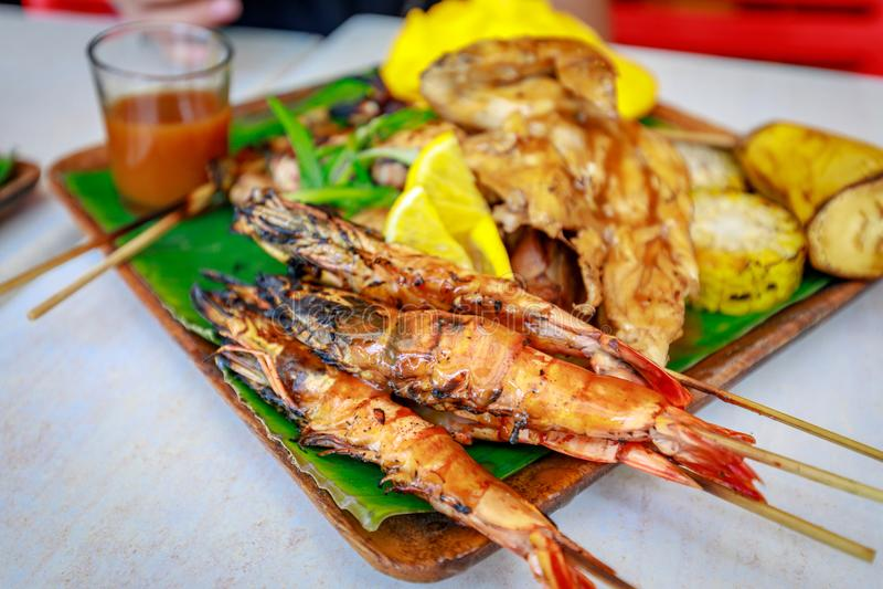 Nourriture philippine de barbecue photographie stock libre de droits