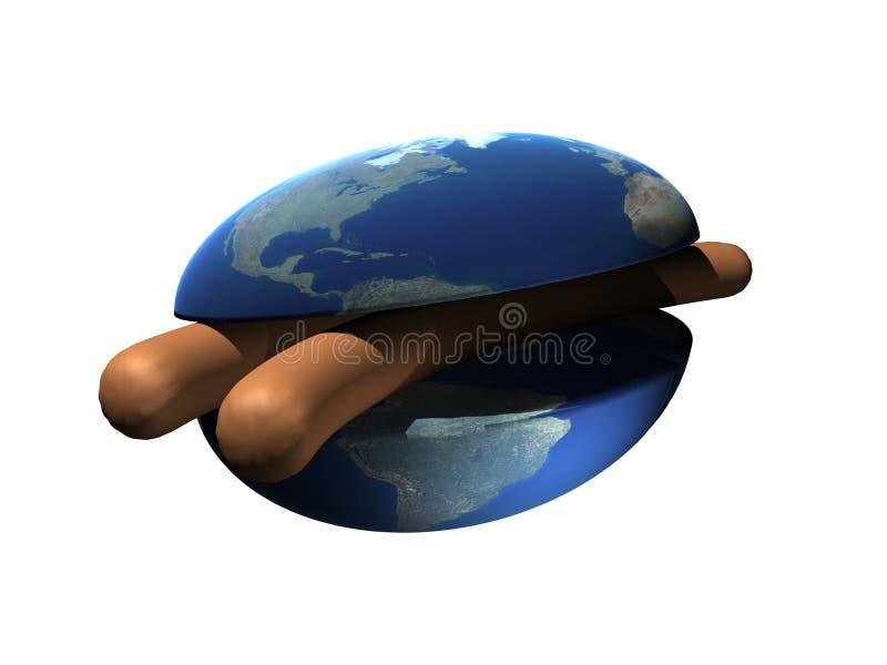 Nourriture-planète illustration de vecteur