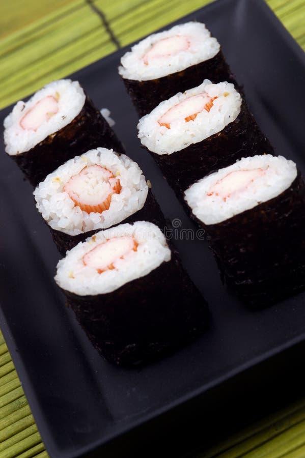 Nourriture - plaque des sushi photo libre de droits