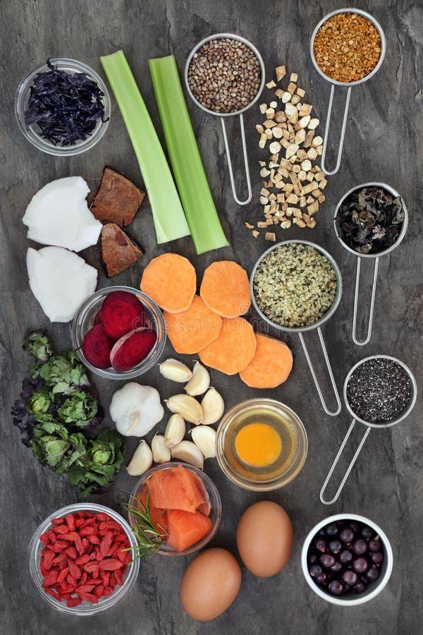 Nourriture pour amplifier Brain Power image libre de droits