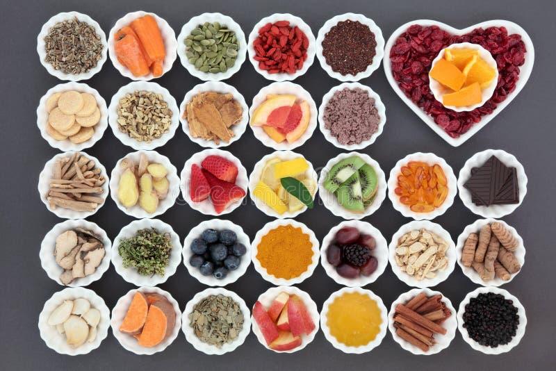 Nourriture pour amplifier le système immunitaire photographie stock