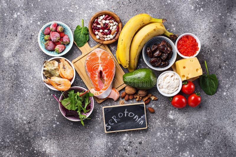 Nourriture pour la bons humeur et bonheur images libres de droits