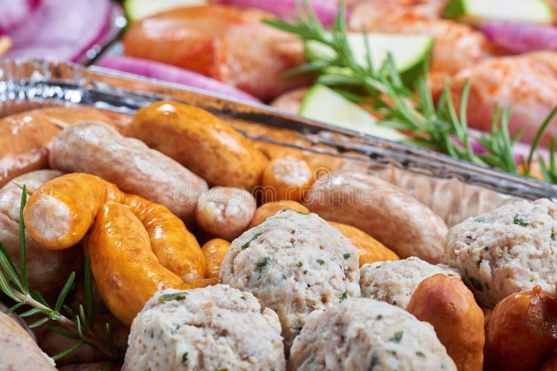 Nourriture préparée pour griller photo libre de droits
