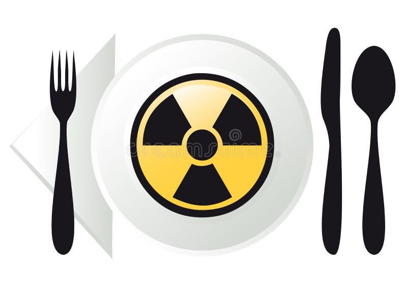 Nourriture radioactive,   illustration de vecteur