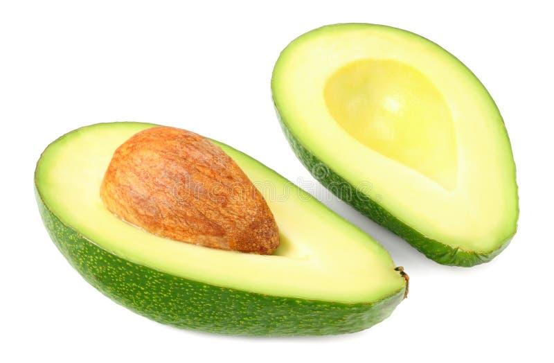 Nourriture saine Avocat coup? en tranches d'isolement sur le fond blanc photographie stock