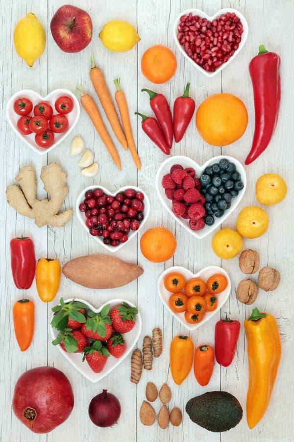 Nourriture saine de coeur images libres de droits