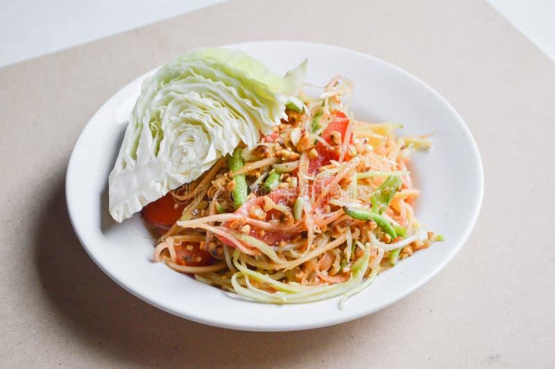 Nourriture saine de la Tha?lande de salade ?pic?e de papaye photos libres de droits