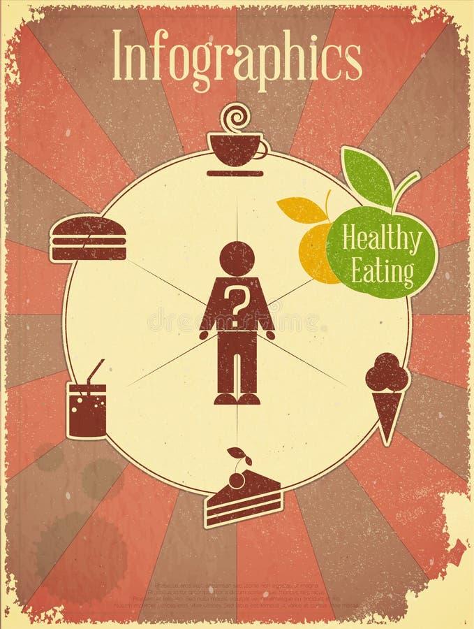 Nourriture saine Infographics illustration stock