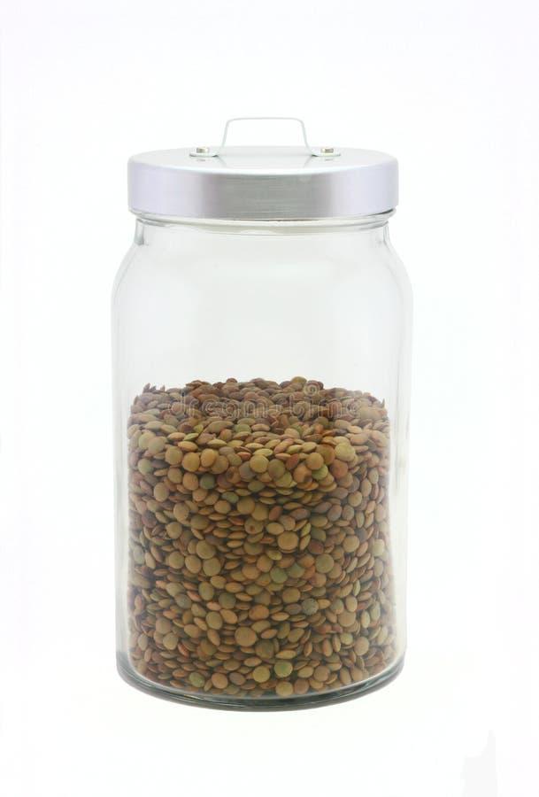 Nourriture saine - lentilles photos stock
