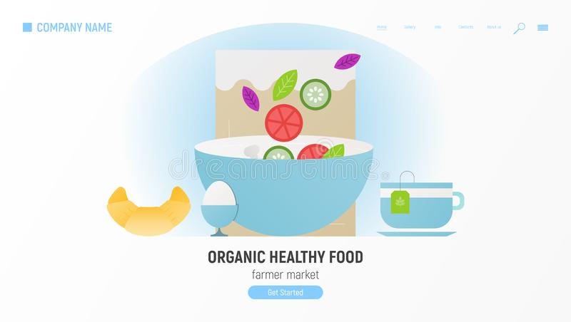 Nourriture saine organique illustration de vecteur