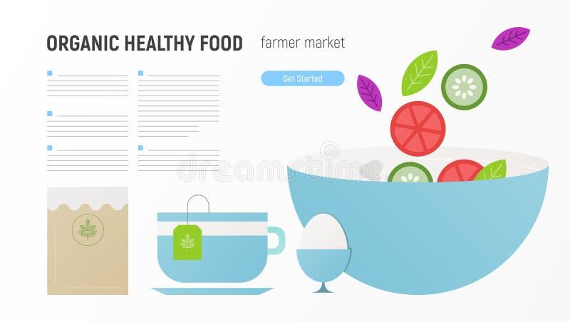 Nourriture saine organique illustration stock